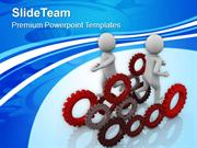 Run To Work As Team Business Concept PowerPoint Templates PPT Themes A