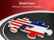 Business Between USA And France PowerPoint Templates PPT Themes And Gr