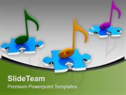 Colorful Musical Notes Abstract Background PowerPoint Templates PPT Th