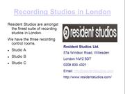 Recording Studios in London
