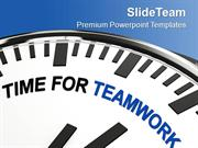 Encourage For Togetherness Teamwork PowerPoint Templates PPT Themes An