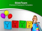 Enjoy Shopping With Sale PowerPoint Templates PPT Themes And Graphics