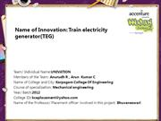 Train electricity generator(TEG)
