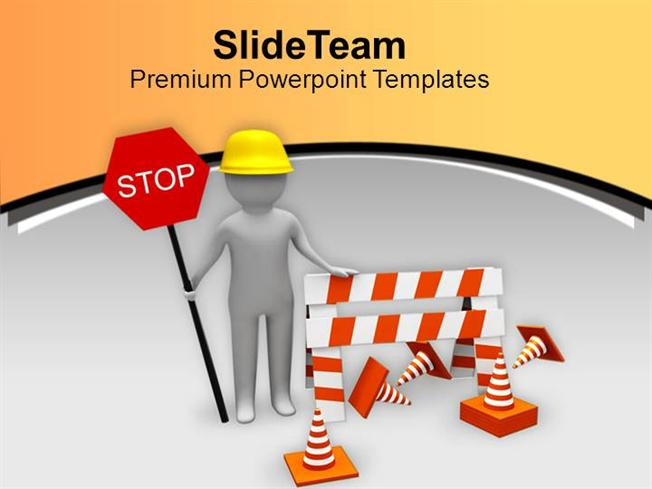 stop for work in progress sign powerpoint templates ppt themes and