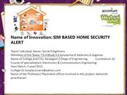SIM BASED HOME SECURITY ALERT