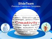 Ball With Inscription Creativity PowerPoint Templates PPT Themes And G