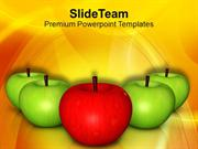 Eat Apple And Be Healthy PowerPoint Templates PPT Themes And Graphics