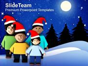 Enjoy Christmas With Family PowerPoint Templates PPT Themes And Graphi