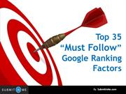 Top 35 Google Ranking Factors