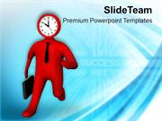 Reach On Time For Achieving Target PowerPoint Templates PPT Themes And