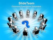 Solve The Questions In Business Meetings PowerPoint Templates PPT Them