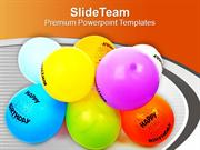 Balloons For Party Theme PowerPoint Templates PPT Themes And Graphics