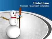 Built Snowman For Christmas PowerPoint Templates PPT Themes And Graphi