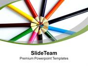 Colored Pencil For Art And Kids PowerPoint Templates PPT Themes And Gr