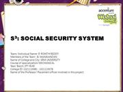 S3 SOCIAL SECURITY SYSTEM