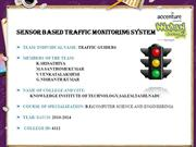 SENSOR BASED TRAFFIC MONITORING SYSTEM