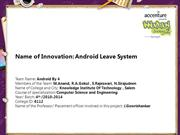 Android Leave System