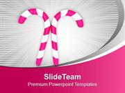 Pink Candy For Christmas Celebration PowerPoint Templates PPT Themes A