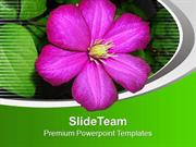 Beautiful Flower for Joy Theme Powerpoint Templates PPT