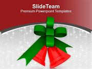 Red Decorative Bells For Christmas PowerPoint Templates PPT Themes And
