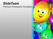 Smiley Faces For Party Theme PowerPoint Templates PPT Themes And Graph