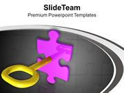 Solve The Problem With Solution Key PowerPoint Templates PPT Themes An