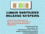 liquid sustained release systems
