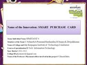 SMART  PURCHASE  CARD