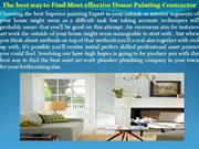 The best way to Find Most effective House Painting Contractor