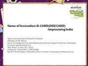 D-CARD(DESI CARD)-Improvising India