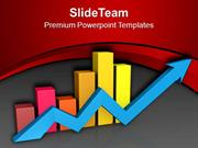 Financial Ups And Down Growth Arrow PowerPoint Templates PPT Themes An