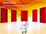 Find The Right Door PowerPoint Templates PPT Themes And Graphics 0513