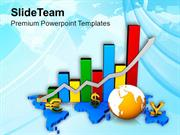 Global Business Growth Display By Bar Graph PowerPoint Templates PPT T