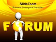 Maintain Forum To Solve Problems PowerPoint Templates PPT Themes And G