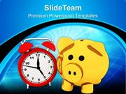 Savings Depends On Time PowerPoint Templates PPT Themes And Graphics 0
