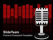 Illustration Of Musical Microphone Technology PowerPoint Templates PPT