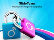 Male And Female Symbol Character PowerPoint Templates PPT Themes And G