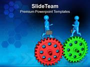 Partnership Business Concept PowerPoint Templates PPT Themes And Graph