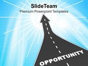 Road To New Opportunities Business Concept PowerPoint Templates PPT Th