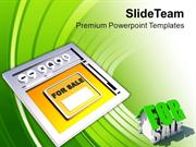 Sell House Online Internet Concept PowerPoint Templates PPT Themes And