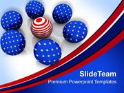 American Flag In Spheres Business Concept PowerPoint Templates PPT The