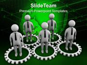 Gear Team Business Concept PowerPoint Templates PPT Themes And Graphic