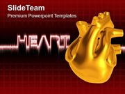 Illustration Of Heart Medical Theme PowerPoint Templates PPT Themes An