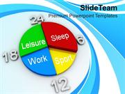 Pie Chart With Weekly Schedule PowerPoint Templates PPT Themes And Gra
