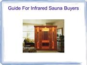 Guide For Infrared Sauna Buyers