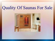 Quality Of Saunas For Sale