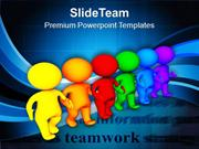 3D Colorful Business Teamwork PowerPoint Templates PPT Themes And Grap