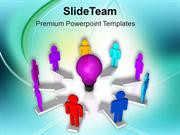 Share The Concept With Team PowerPoint Templates PPT Themes And Graphi