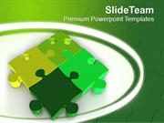Business Solution And Strategy Jigsaw Puzzles PowerPoint Templates PPT