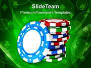 Casino Theme With Poker Game PowerPoint Templates PPT Themes And Graph